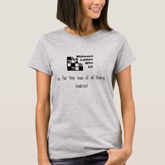 Camiseta O t-shirt básico das mulheres de MWLWL