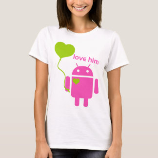 Camiseta O t-shirt básico das mulheres do Android
