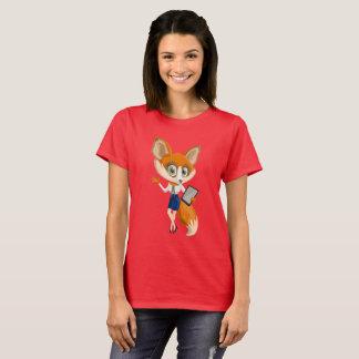 Camiseta O t-shirt básico das mulheres do design do Fox
