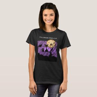 Camiseta O t-shirt básico das mulheres do design do gato da