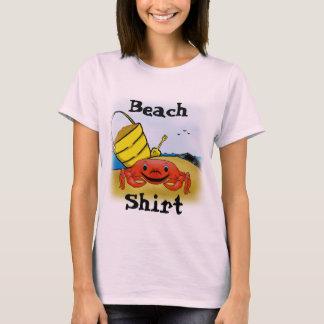 Camiseta O t-shirt básico das mulheres do dia da praia