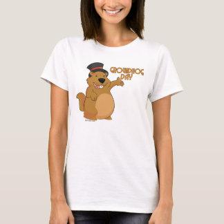 Camiseta O t-shirt básico das mulheres do dia de Groundhog