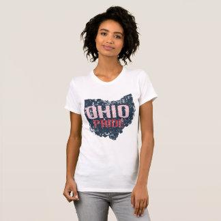 Camiseta O t-shirt básico das mulheres do Grunge do orgulho