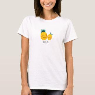 Camiseta O t-shirt básico das mulheres dos amigos do