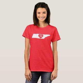 Camiseta O t-shirt básico das mulheres eu amo o estado de
