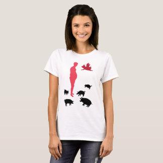 Camiseta O t-shirt básico das mulheres felizes da refeição