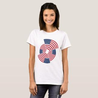 Camiseta O t-shirt básico das mulheres idosas da glória