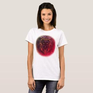 Camiseta O t-shirt básico das mulheres principais do leão