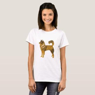 Camiseta O t-shirt básico das mulheres roncas do cão