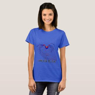 Camiseta O t-shirt básico de 6 mulheres da aranha do olho