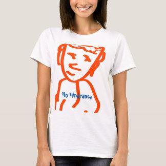 Camiseta O t-shirt básico de nenhumas mulheres do obstáculo