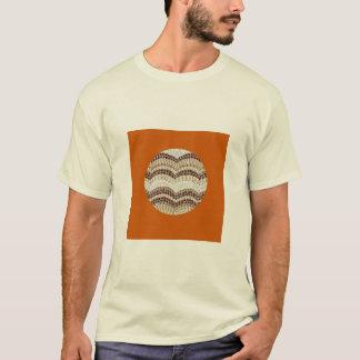Camiseta O t-shirt básico dos homens bege do mosaico