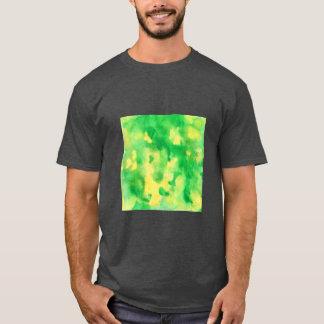 Camiseta O t-shirt básico dos homens da aguarela do verde