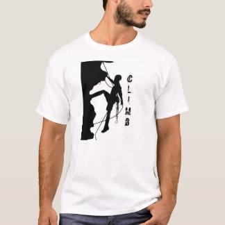 Camiseta O t-shirt básico dos homens da silhueta da