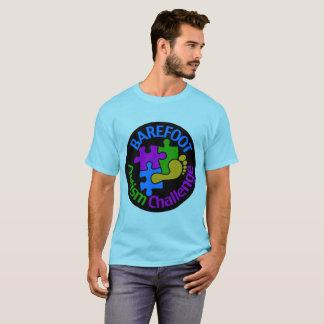 Camiseta O t-shirt básico dos homens descalços do desafio