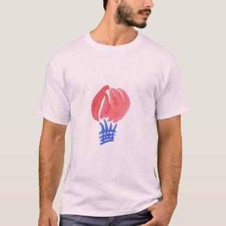 Camiseta O t-shirt básico dos homens do balão de ar