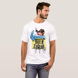 Camiseta O t-shirt básico dos homens do camino de Buen