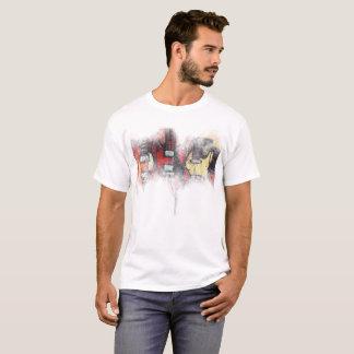 Camiseta O t-shirt básico dos homens, febre da guitarra