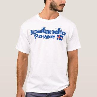 Camiseta O t-shirt básico dos homens islandêses do poder