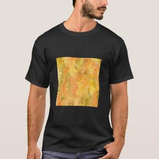 Camiseta O t-shirt básico dos homens verdes alaranjados da