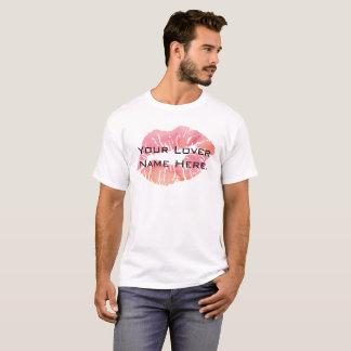 Camiseta O t-shirt básico dos seus do amante do nome homens