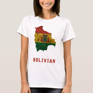 Camiseta O t-shirt boliviano da bandeira