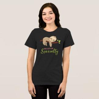 Camiseta O t-shirt bonito da preguiça que é preguiçoso é
