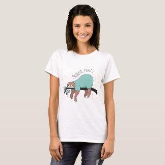 Camiseta O t-shirt bonito das mulheres do partido de pijama
