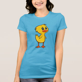 Camiseta O t-shirt bonito das mulheres do pato dos desenhos