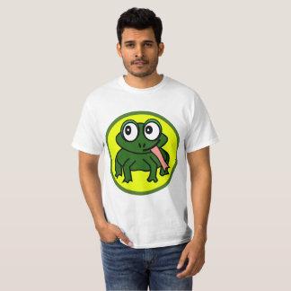 Camiseta O t-shirt bonito de homens de sapo de Roscoe