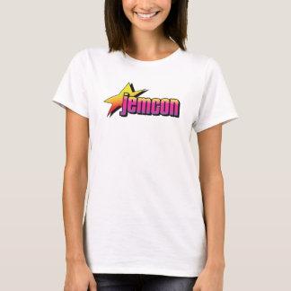 Camiseta O t-shirt cabido das mulheres do logotipo de
