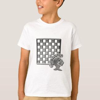 Camiseta O t-shirt cabido do miúdo da estratégia da xadrez