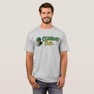 Camiseta O t-shirt cinzento dos homens do café do combate