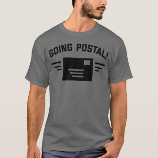 Camiseta O t-shirt cinzento escuro dos homens postais indo