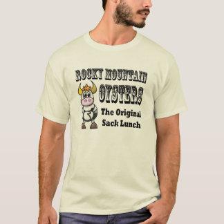 Camiseta O t-shirt cómico dos homens das ostras da montanha