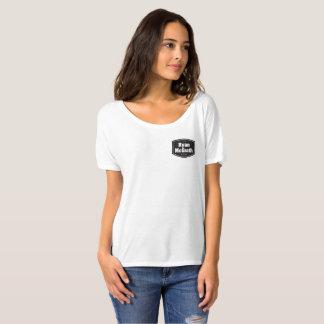 Camiseta O t-shirt confortável das mulheres da banda de