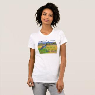 Camiseta O t-shirt cristão das mulheres do Bluebird da