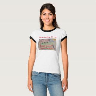 Camiseta O t-shirt cura das mulheres cristãs da igreja da