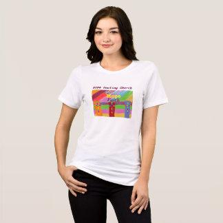 Camiseta O t-shirt cura das mulheres da fé da paz da igreja