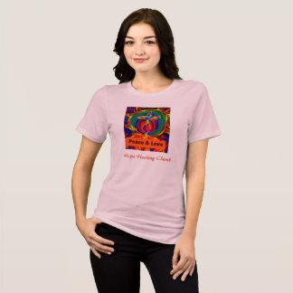 Camiseta O t-shirt cura das mulheres da paz e do amor da