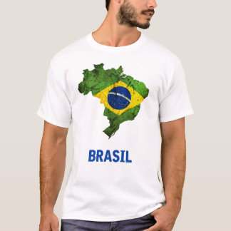 Camiseta O t-shirt da bandeira de Brasil