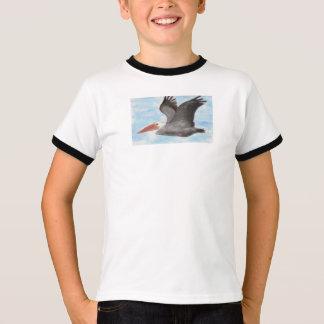 Camiseta O t-shirt da criança do pelicano de Brown