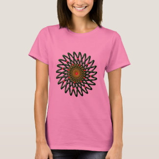 Camiseta O t-shirt da flor do rubi