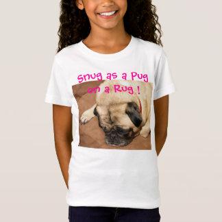 Camiseta O t-shirt da menina com Ernie o pug confortável na