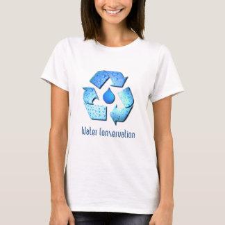 Camiseta O t-shirt da menina da conservação de água