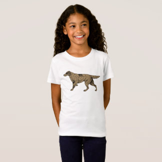 Camiseta O t-shirt da menina de cabelos compridos da raça