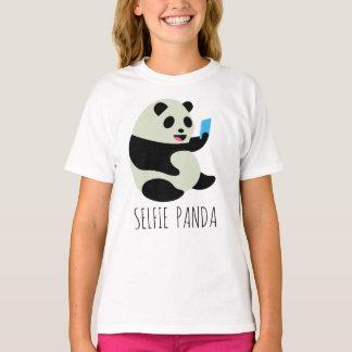 """Camiseta O t-shirt da menina: De """"panda Selfie """""""