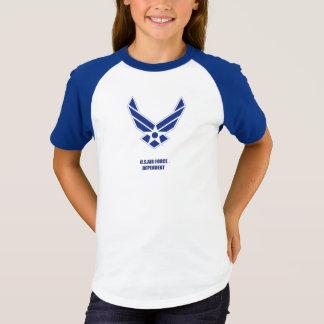 Camiseta O t-shirt da menina dependente do U.S.A.F.