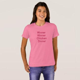 Camiseta O t-shirt da menina do comensal da galinha do