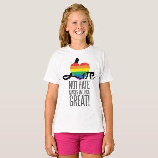 Camiseta O t-shirt da menina do ódio do amor não